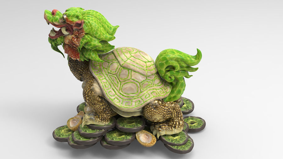 Turtle Dragon royalty-free 3d model - Preview no. 8