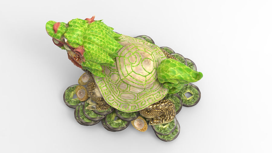 Turtle Dragon royalty-free 3d model - Preview no. 5
