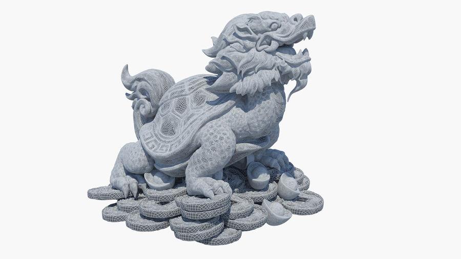 Turtle Dragon royalty-free 3d model - Preview no. 17
