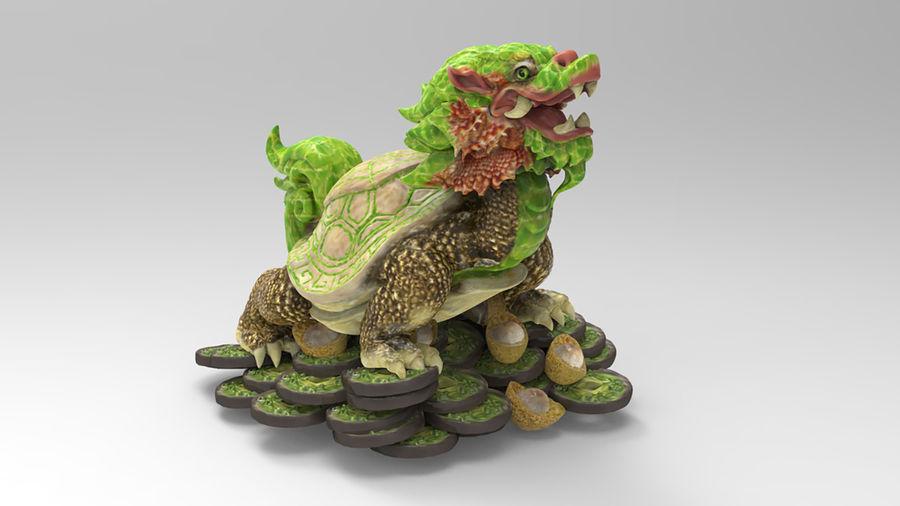 Turtle Dragon royalty-free 3d model - Preview no. 2