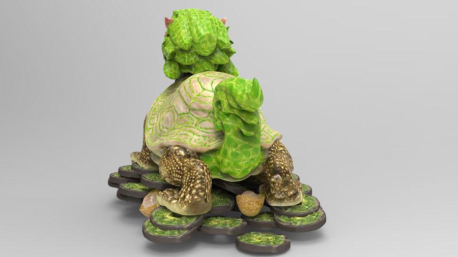 Turtle Dragon royalty-free 3d model - Preview no. 6