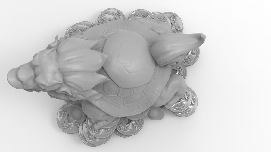 Turtle Dragon royalty-free 3d model - Preview no. 14