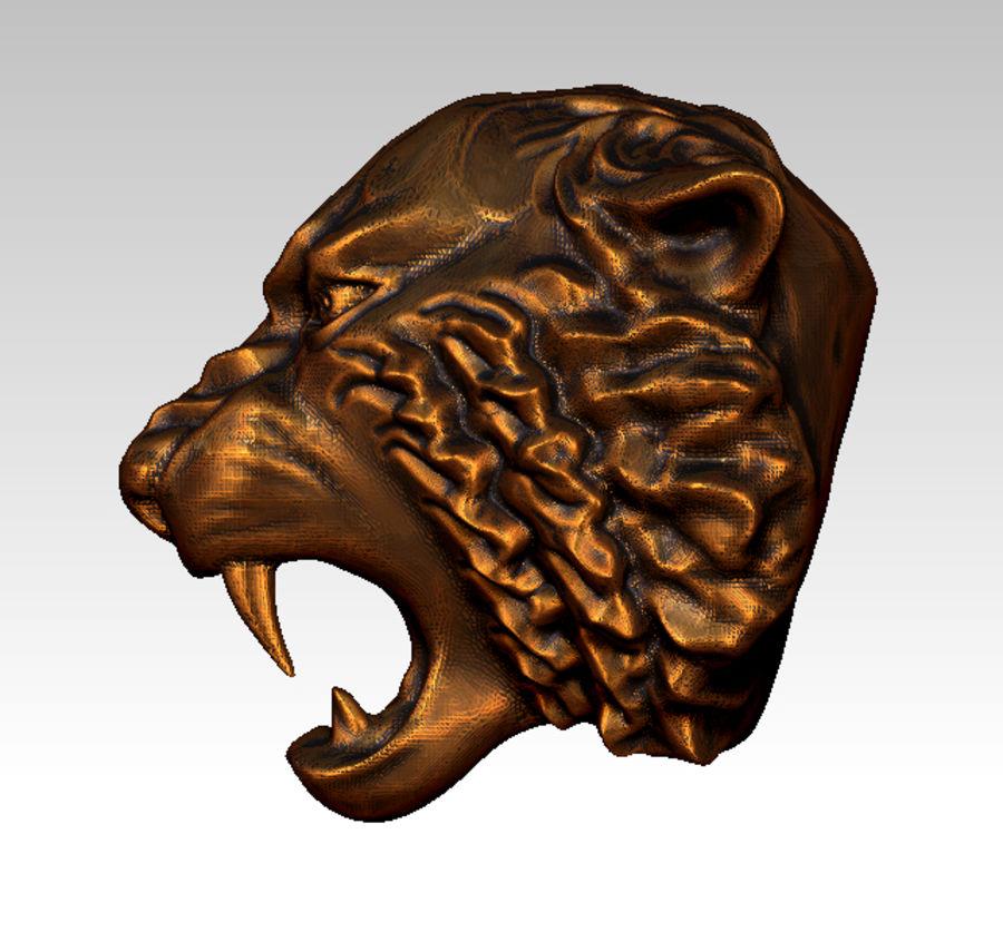 Tiger art sculpt royalty-free 3d model - Preview no. 3