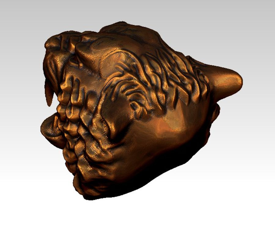 Tiger art sculpt royalty-free 3d model - Preview no. 4