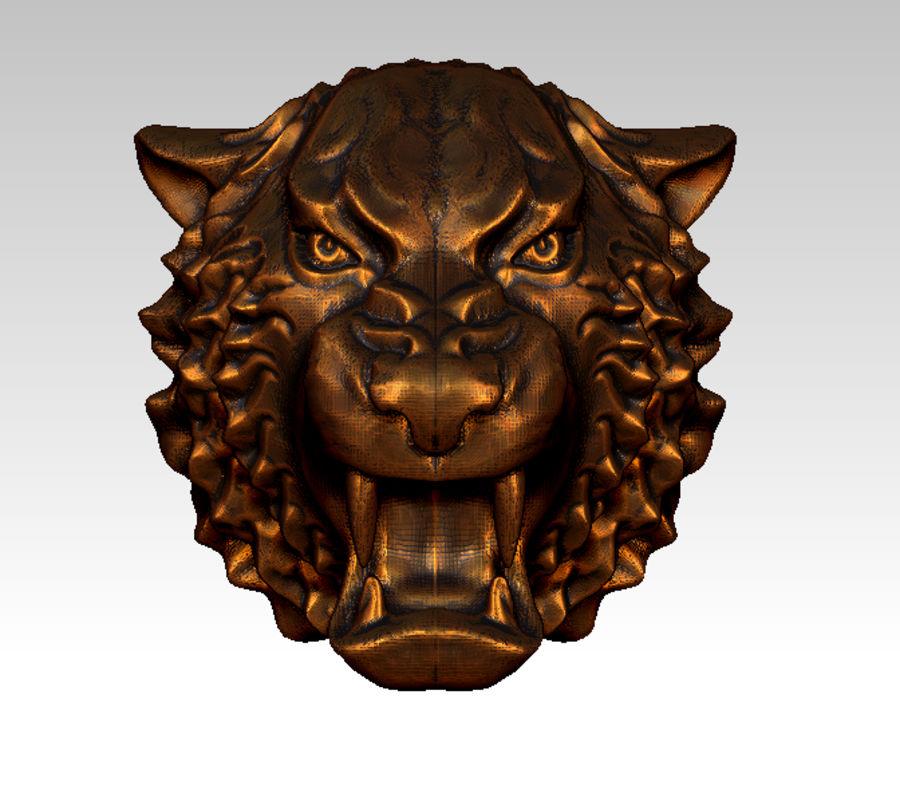 Tiger art sculpt royalty-free 3d model - Preview no. 1