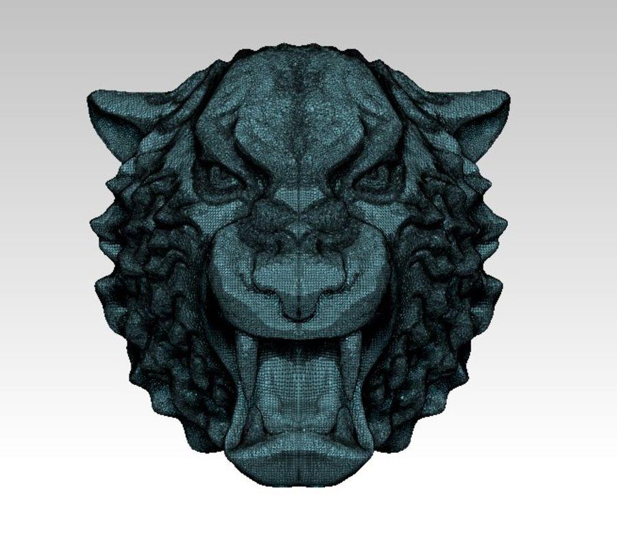 Tiger art sculpt royalty-free 3d model - Preview no. 7