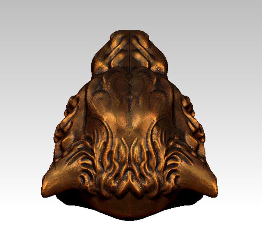 Tiger art sculpt royalty-free 3d model - Preview no. 5