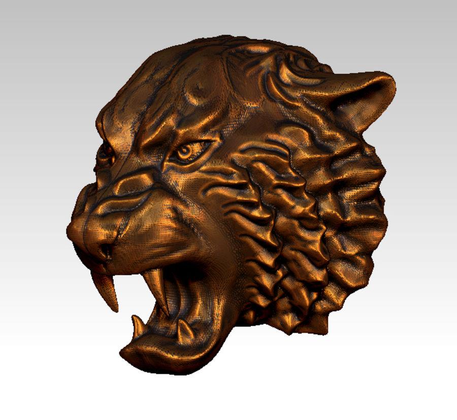 Tiger art sculpt royalty-free 3d model - Preview no. 2