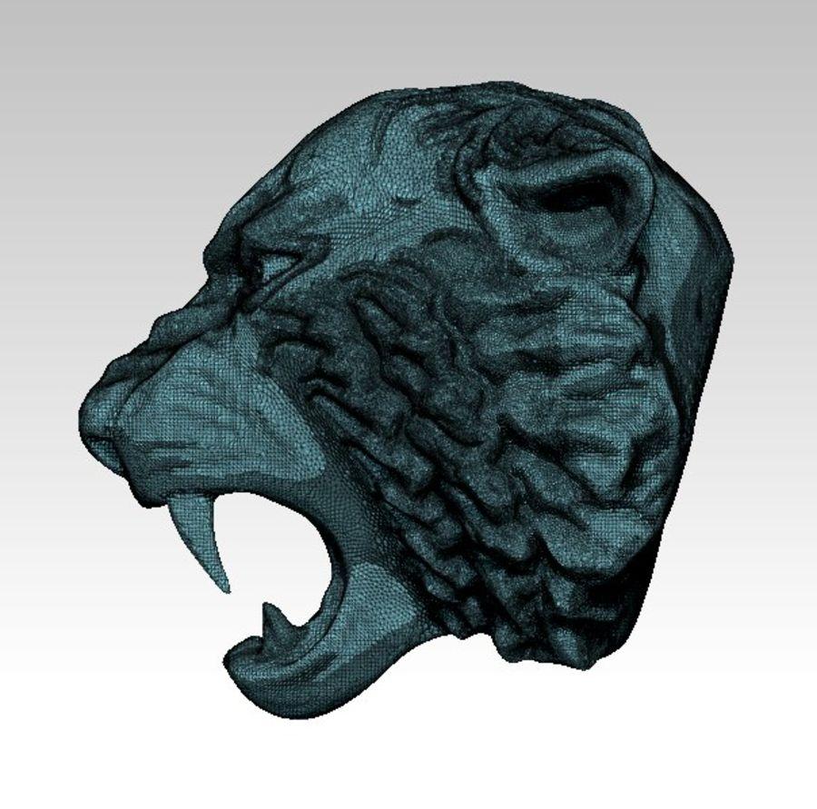 Tiger art sculpt royalty-free 3d model - Preview no. 8