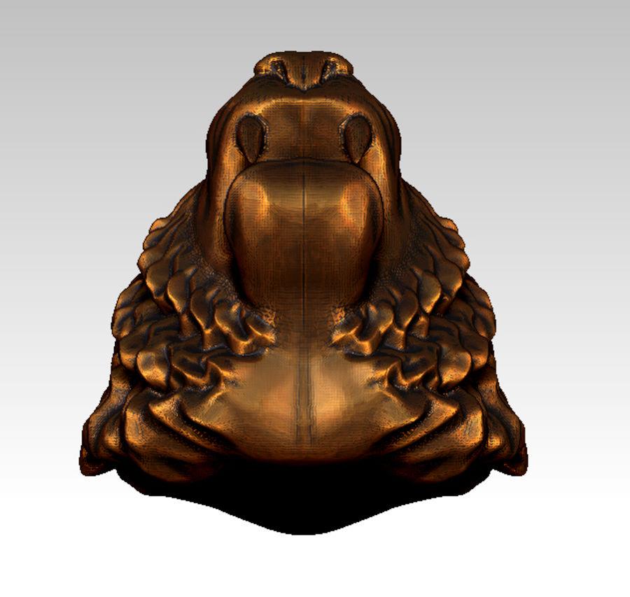 Tiger art sculpt royalty-free 3d model - Preview no. 6