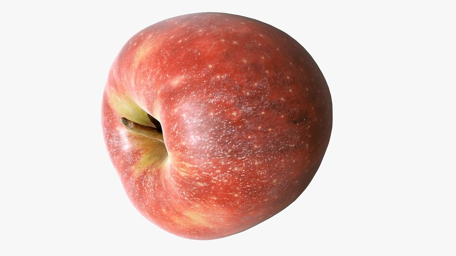 Scanned Apple 01 royalty-free 3d model - Preview no. 22