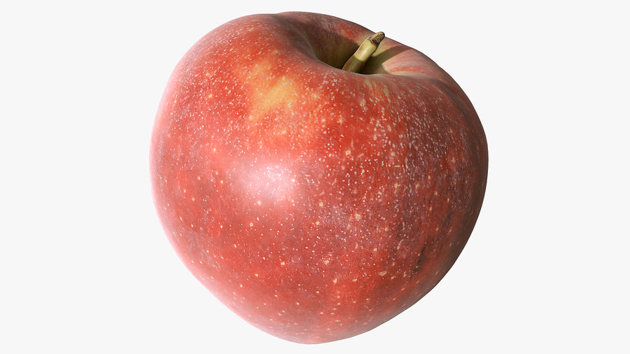 Scanned Apple 01 royalty-free 3d model - Preview no. 7