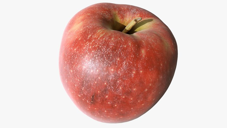 Scanned Apple 01 royalty-free 3d model - Preview no. 6