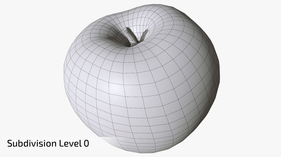 Scanned Apple 01 royalty-free 3d model - Preview no. 20