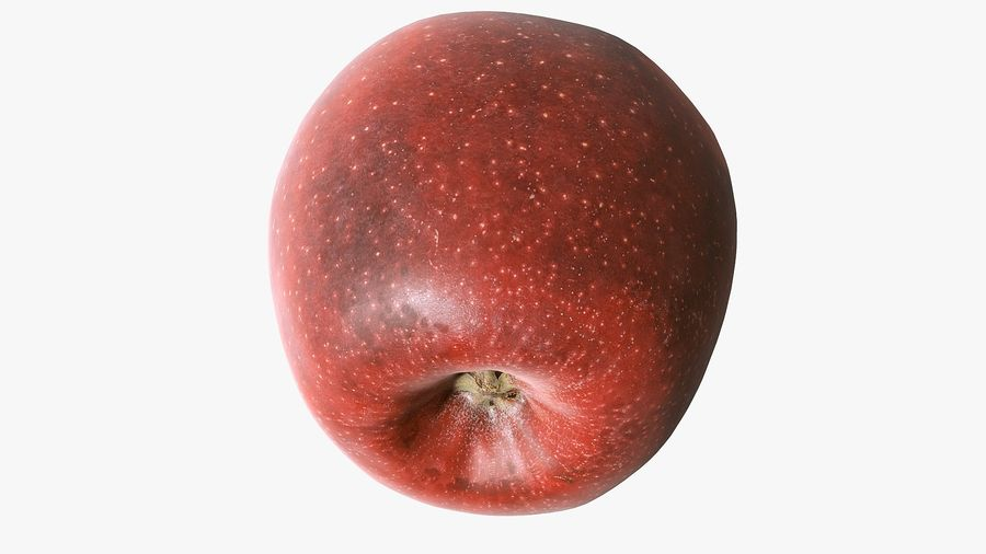 Scanned Apple 01 royalty-free 3d model - Preview no. 27