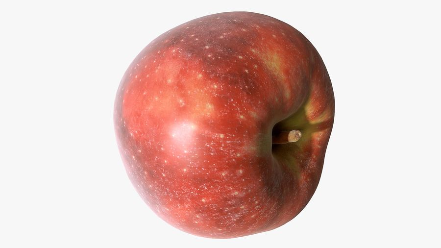 Scanned Apple 01 royalty-free 3d model - Preview no. 24