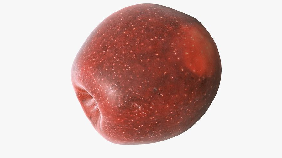 Scanned Apple 01 royalty-free 3d model - Preview no. 26