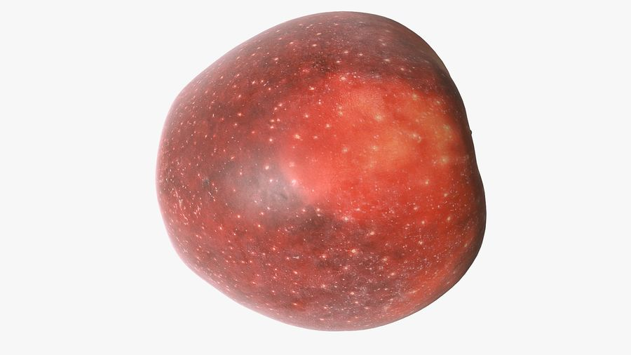 Scanned Apple 01 royalty-free 3d model - Preview no. 25