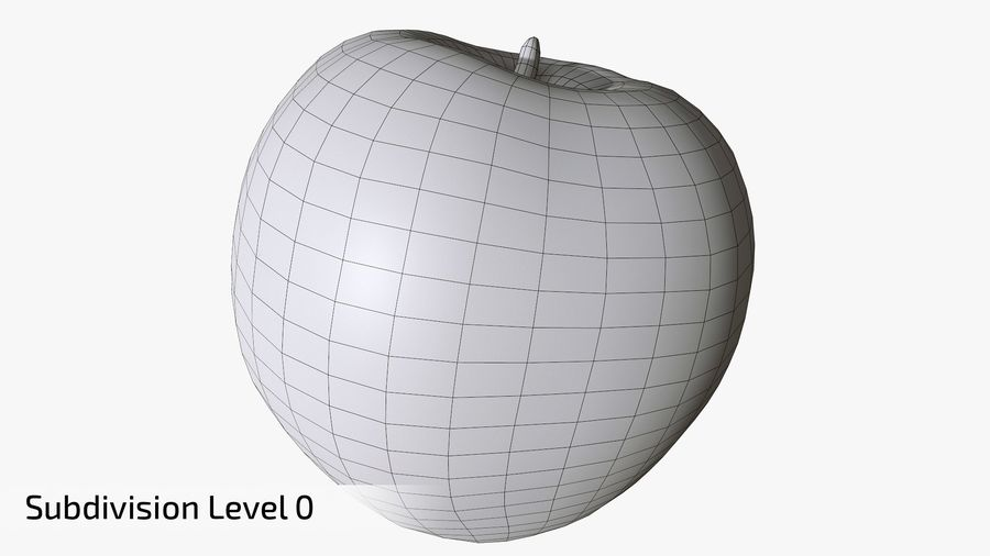 Scanned Apple 01 royalty-free 3d model - Preview no. 16