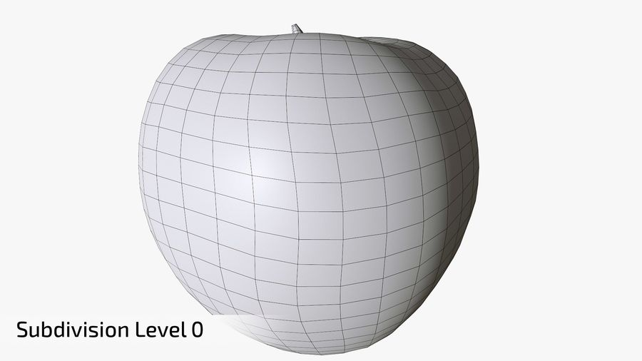 Scanned Apple 01 royalty-free 3d model - Preview no. 17