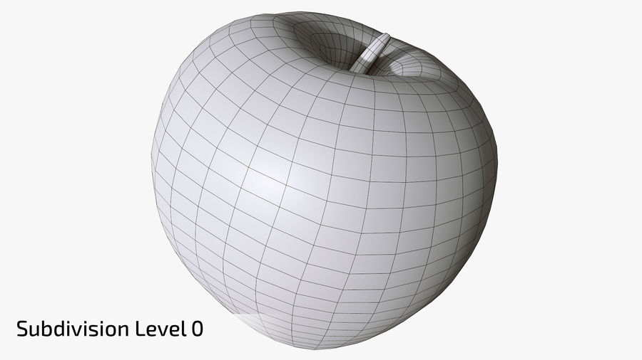 Scanned Apple 01 royalty-free 3d model - Preview no. 15
