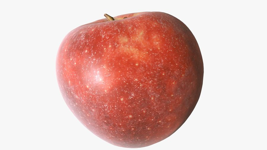 Scanned Apple 01 royalty-free 3d model - Preview no. 10