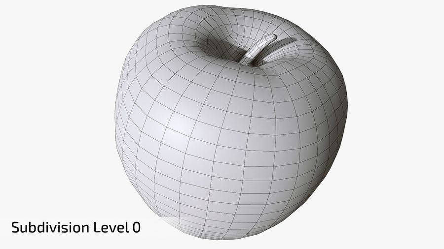 Scanned Apple 01 royalty-free 3d model - Preview no. 14