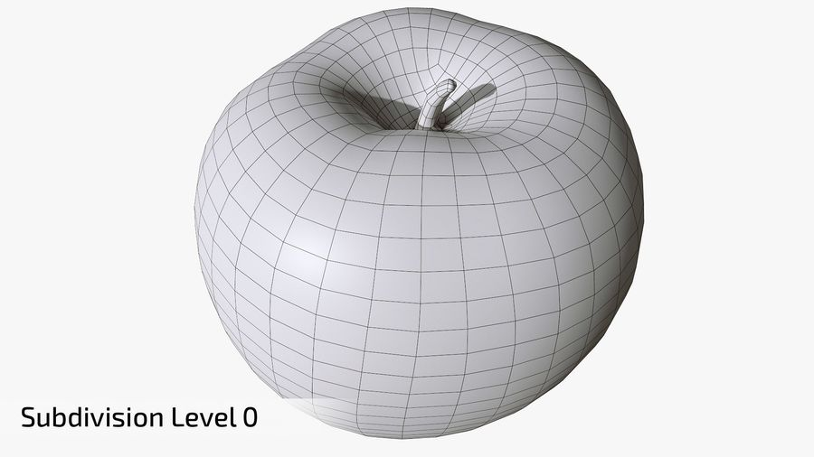 Scanned Apple 01 royalty-free 3d model - Preview no. 13