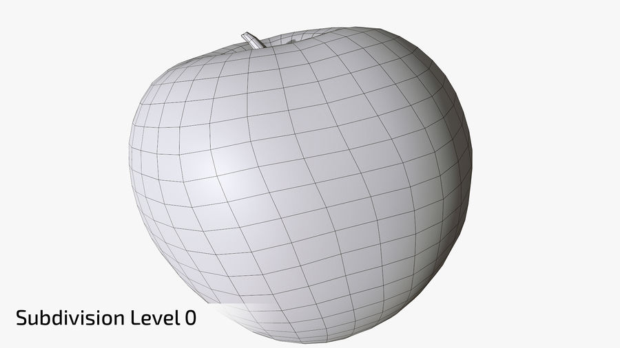 Scanned Apple 01 royalty-free 3d model - Preview no. 18