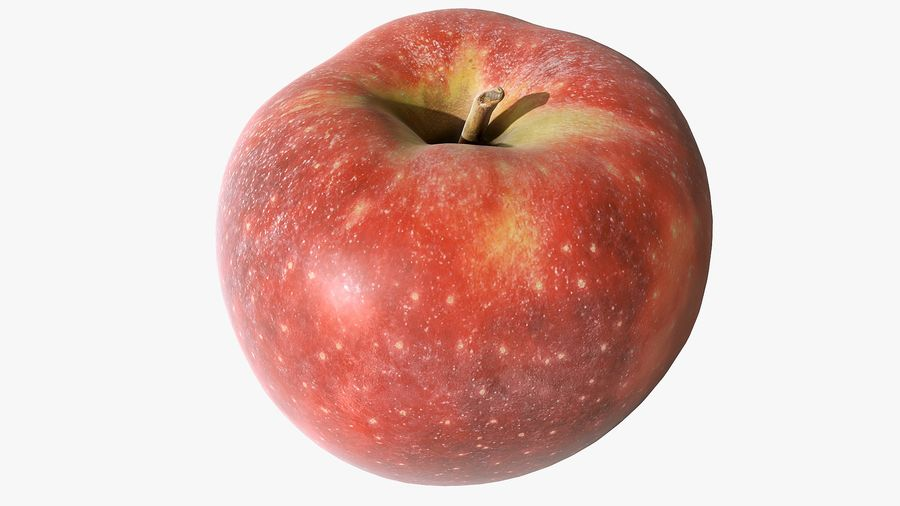 Scanned Apple 01 royalty-free 3d model - Preview no. 5