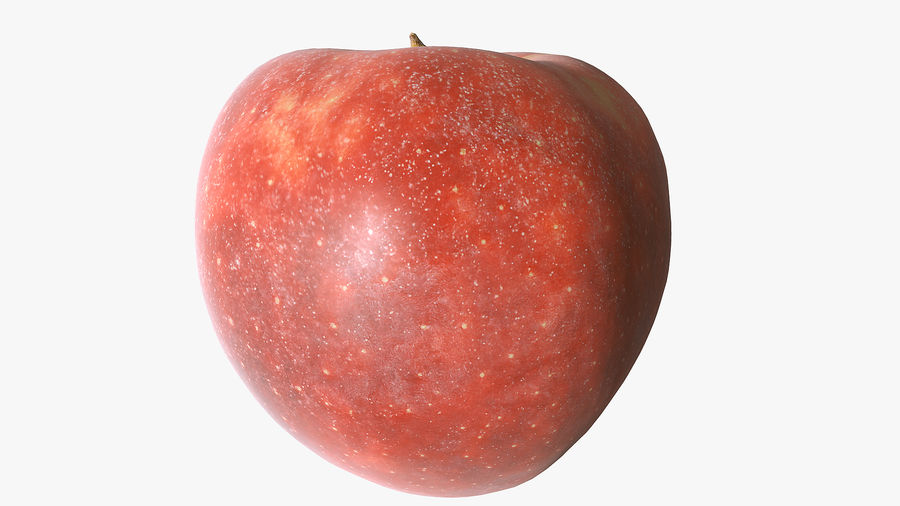 Scanned Apple 01 royalty-free 3d model - Preview no. 9