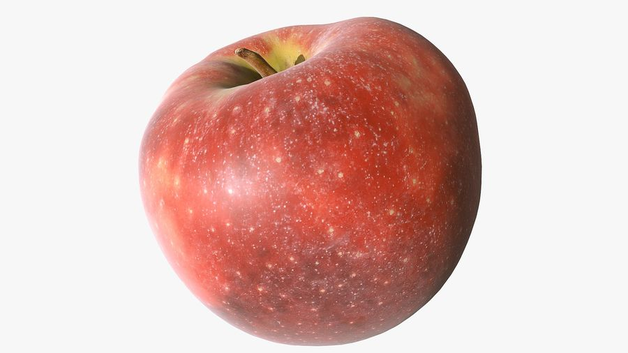 Scanned Apple 01 royalty-free 3d model - Preview no. 11