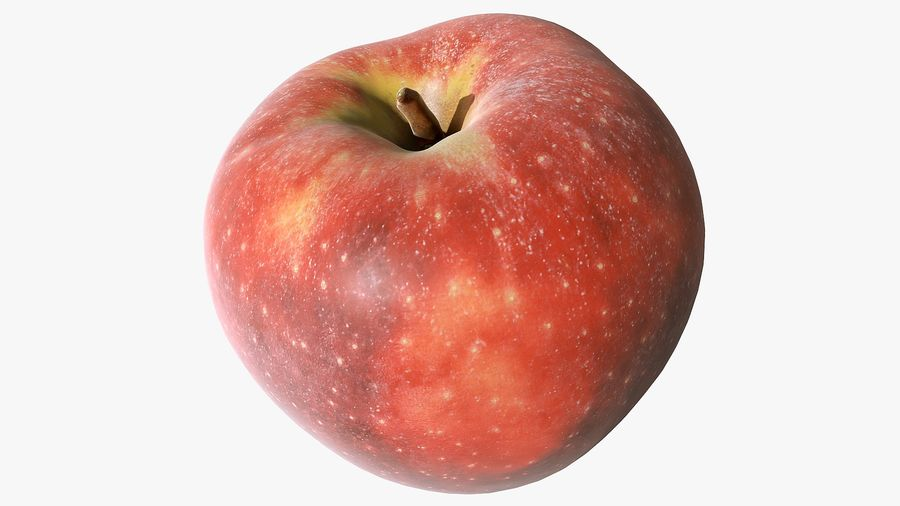 Scanned Apple 01 royalty-free 3d model - Preview no. 12