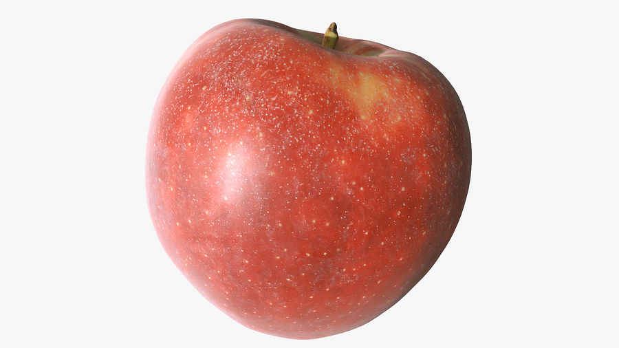 Scanned Apple 01 royalty-free 3d model - Preview no. 8