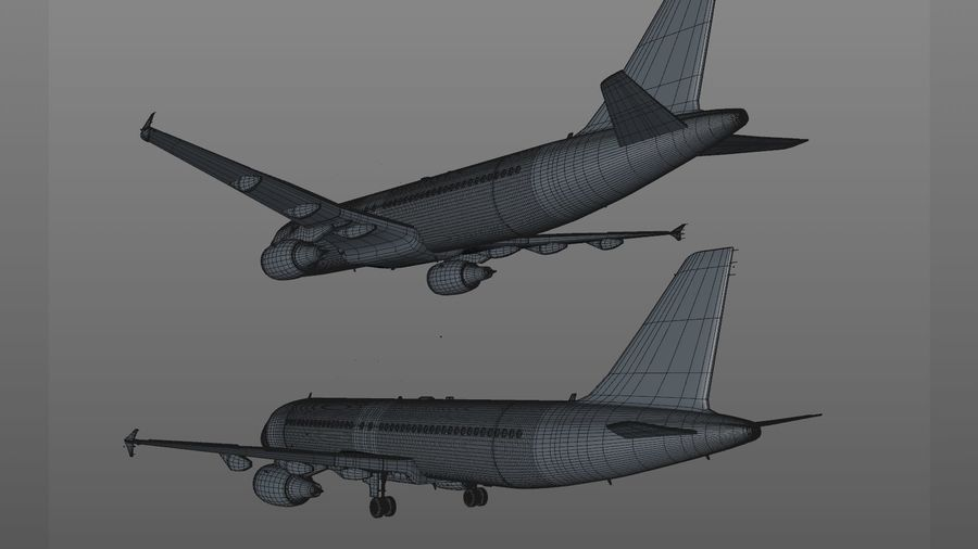 AIR BERLIN Airbus A320 L494 royalty-free 3d model - Preview no. 60
