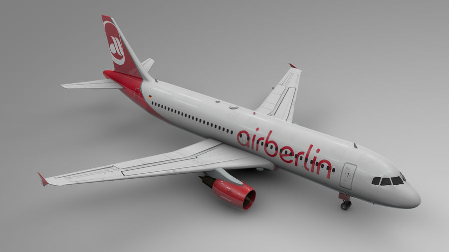 AIR BERLIN Airbus A320 L494 royalty-free 3d model - Preview no. 14