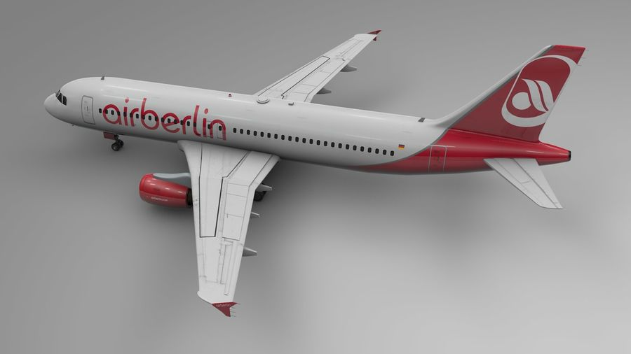 AIR BERLIN Airbus A320 L494 royalty-free 3d model - Preview no. 4