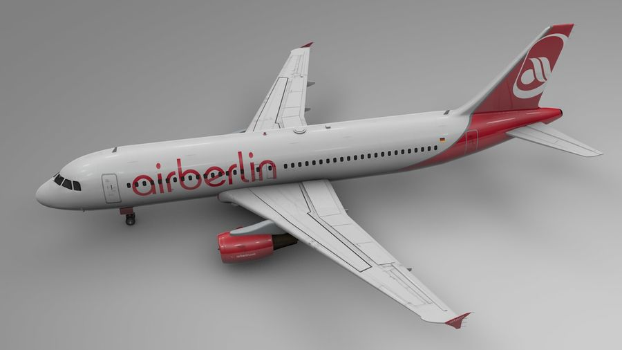 AIR BERLIN Airbus A320 L494 royalty-free 3d model - Preview no. 3