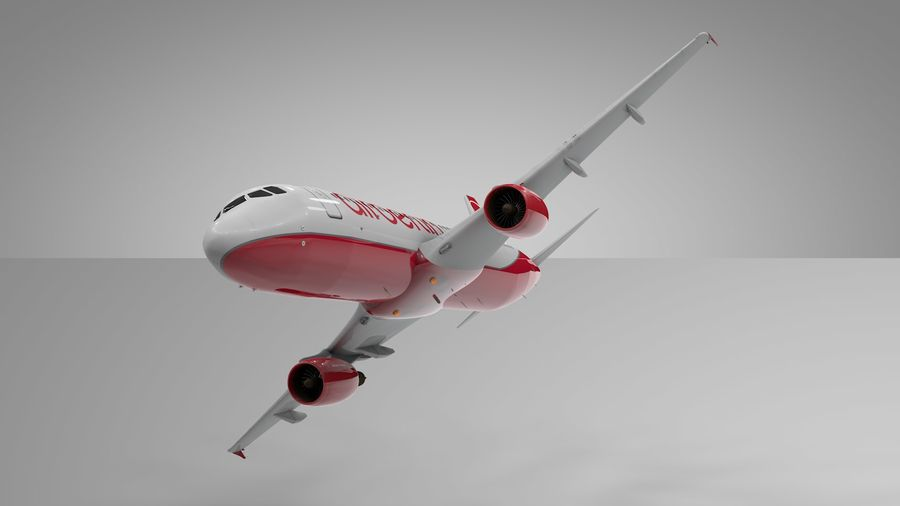 AIR BERLIN Airbus A320 L494 royalty-free 3d model - Preview no. 15