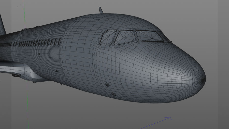 AIR BERLIN Airbus A320 L494 royalty-free 3d model - Preview no. 40