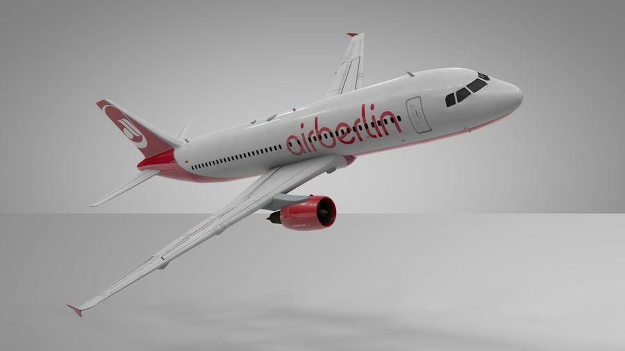 AIR BERLIN Airbus A320 L494 royalty-free 3d model - Preview no. 16