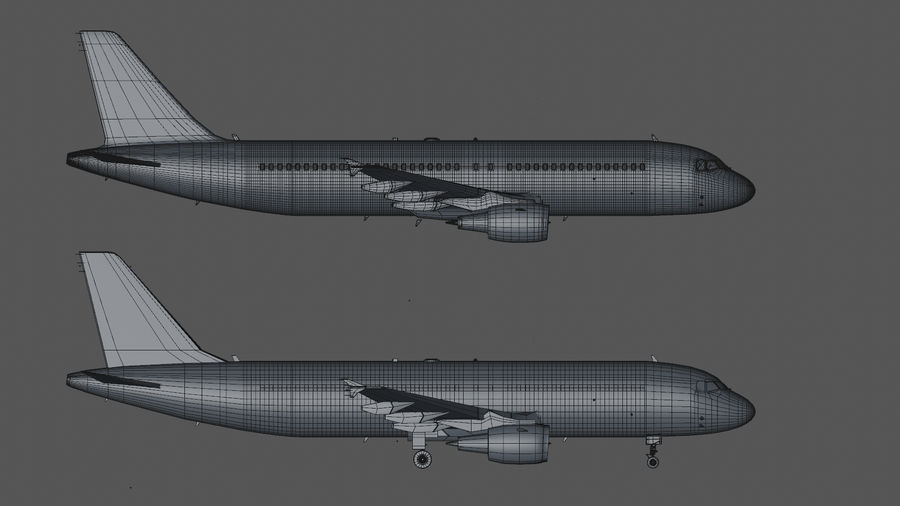 AIR BERLIN Airbus A320 L494 royalty-free 3d model - Preview no. 44