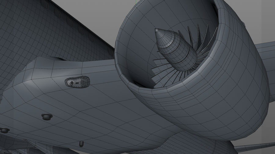 AIR BERLIN Airbus A320 L494 royalty-free 3d model - Preview no. 38