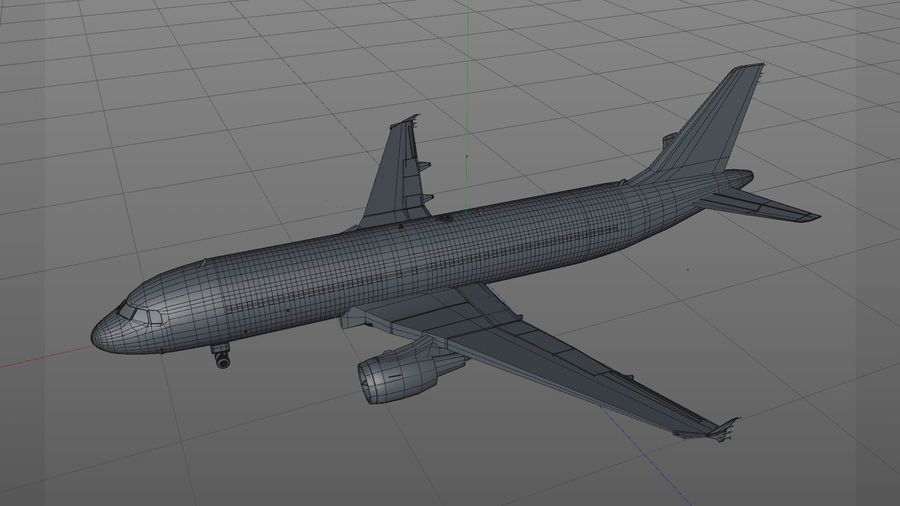 AIR BERLIN Airbus A320 L494 royalty-free 3d model - Preview no. 23