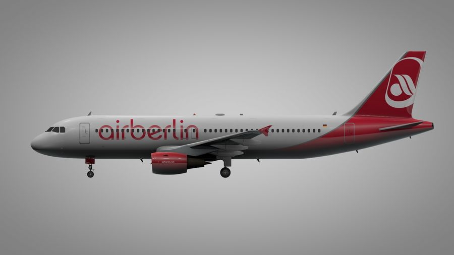 AIR BERLIN Airbus A320 L494 royalty-free 3d model - Preview no. 9