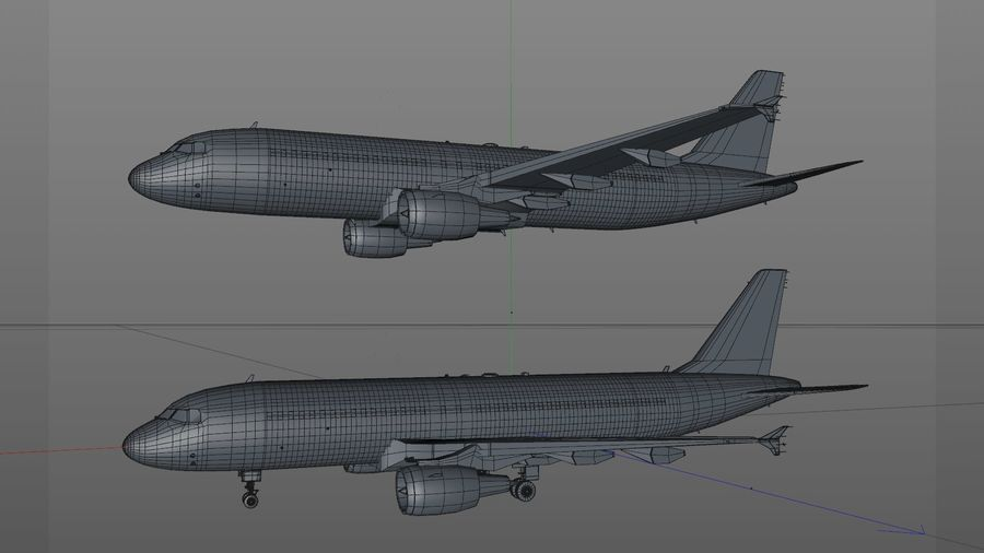 AIR BERLIN Airbus A320 L494 royalty-free 3d model - Preview no. 61