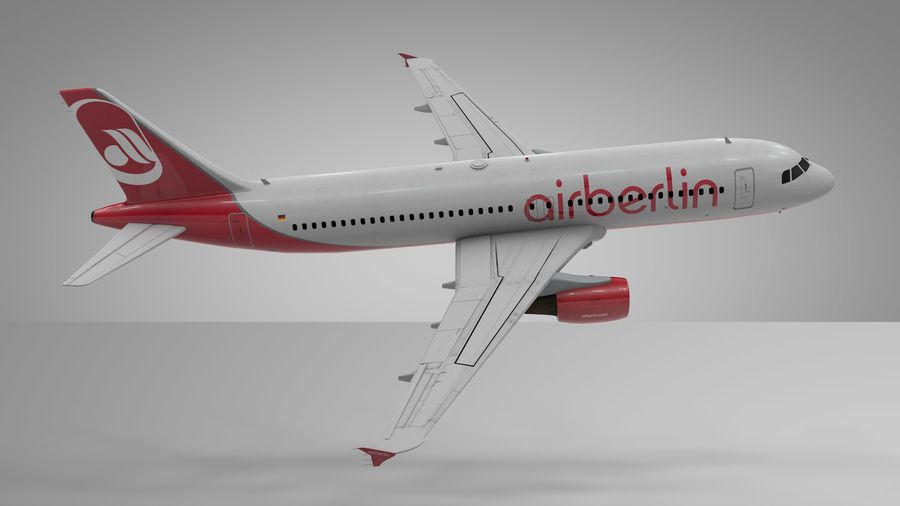 AIR BERLIN Airbus A320 L494 royalty-free 3d model - Preview no. 17
