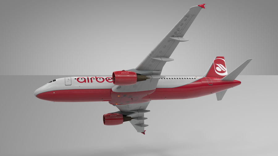 AIR BERLIN Airbus A320 L494 royalty-free 3d model - Preview no. 20