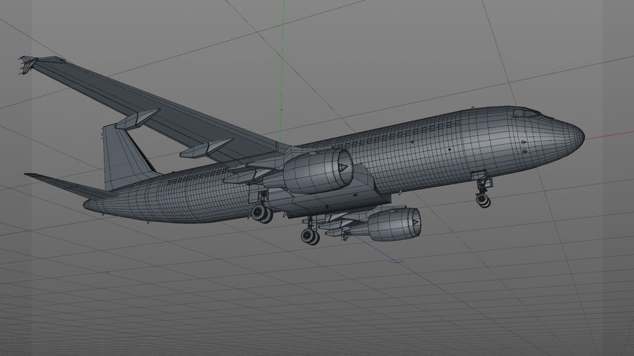AIR BERLIN Airbus A320 L494 royalty-free 3d model - Preview no. 26