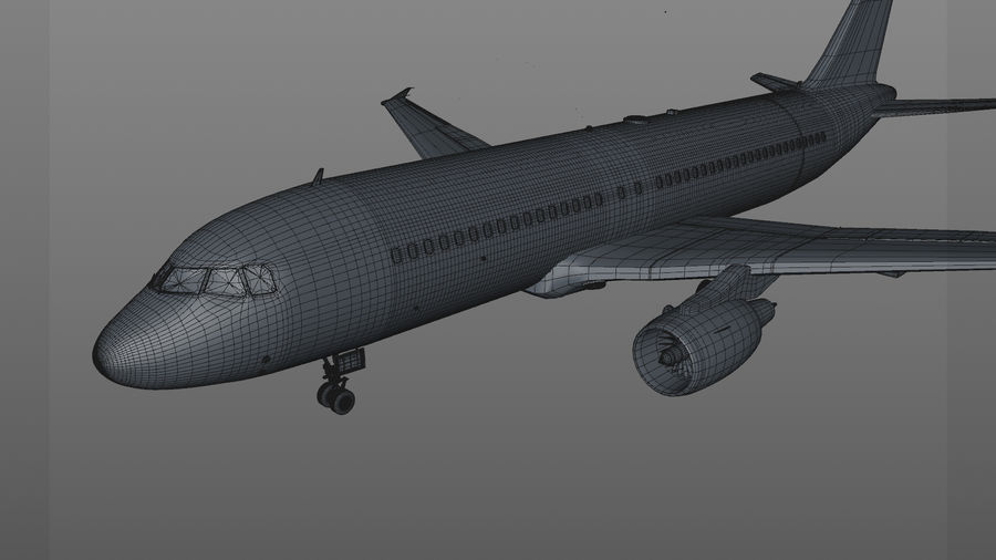 AIR BERLIN Airbus A320 L494 royalty-free 3d model - Preview no. 50